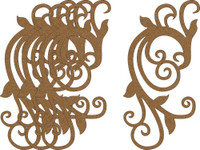 Chipboard Embellishments - Pack of 4 - Style E