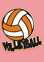 Volleyball with Ball - Die Cut