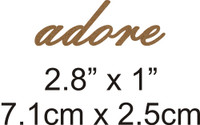 Adore - Beautiful Script Chipboard Word