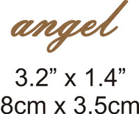 Angel - Beautiful Script Chipboard Word