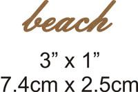 Beach - Beautiful Script Chipboard Word