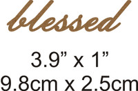 Blessed - Beautiful Script Chipboard Word