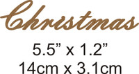 Christmas - Beautiful Script Chipboard Word
