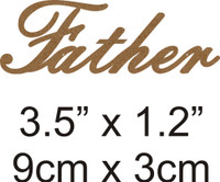 Father - Beautiful Script Chipboard Word