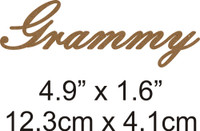 Grammy - Beautiful Script Chipboard Word