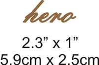 Hero - Beautiful Script Chipboard Word
