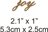 Joy  - Beautiful Script Chipboard Word