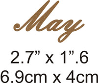 May - Beautiful Script Chipboard Word