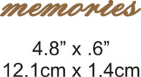 Memories - Beautiful Script Chipboard Word