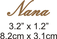 Nana - Beautiful Script Chipboard Word