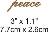 Peace - Beautiful Script Chipboard Word