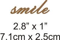 Smile - Beautiful Script Chipboard Word