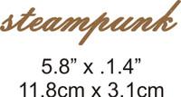 Steampunk - Beautiful Script Chipboard Word