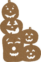 Pumpkin Stack Large 2 Pack - Chipboard Shapes