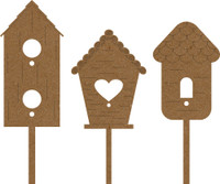 Birdhouses Chipboard Embellishment Pack