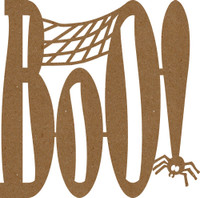 Boo with Spider Chipboard Embellishment