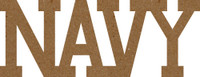 Navy Chipboard Word