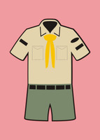 Boy Scouts Uniform - Die Cut