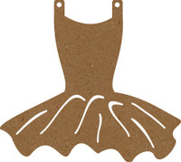 Leotard with Tutu - Chipboard Embellishment