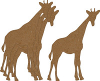 Giraffe 4 Pack - Chipboard Shapes