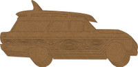 Woody Wagon with Surfboard Chipboard Album