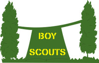 Boy Scouts with Tent  - Die Cut