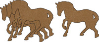 Horse Chipboard Embellishments - Pack of 4