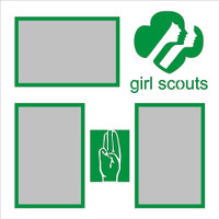 Girl Scouts - 12x12 Overlay