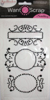 Nestabling Fancy Tags Three - Black Rhinestones