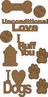 Dog Chipboard Embellishment Pack