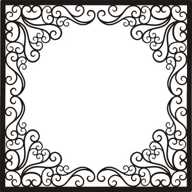 fancy frame 12x12 overlay want2scrap
