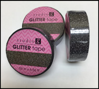 Washi Tape - Black Glitter