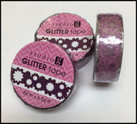 Washi Tape - Purple Daisy Glitter