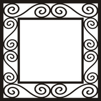 Fancy Frame 3 - 12x12 Overlay