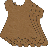 Dress 4 Pack - Chipboard Embellishments