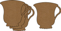 Teacups 4 Pack - Chipboard Embellishments