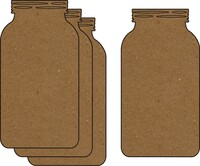 Mason Jar 4 Pack - Chipboard Embellishments