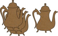 Vintage Teapot 4 Pack - Chipboard Embellishments