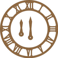 Clock with clock hands Chipboard Embellishment