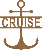 Anchor with text Cruise - Chipboard Embellishment
