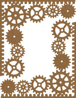 Gear Corners 2 Pack Chipboard Embellishment