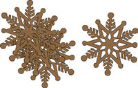 Snowflakes #2 - 4 Pack Chipboard Embellishment