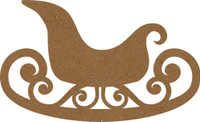 Sleigh with Swirls - Chipboard Embellishment