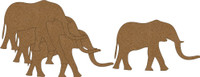Elephant - 4 Pack - Chipboard Embellishment