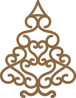 Christmas Swirl Tree Large - Chipboard Embellishment