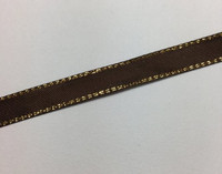 Brown & Gold Ribbon  - 1 yard