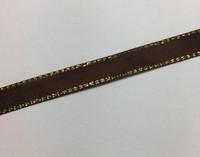 Brown & Gold Ribbon  - 1 yard