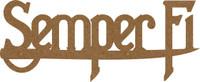 Semper Fidelis Chipboard Word