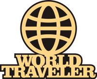 World Traveler - Laser Die Cut