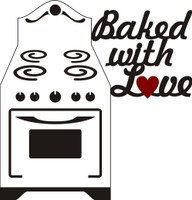 Baked with Love - Laser Die Cut